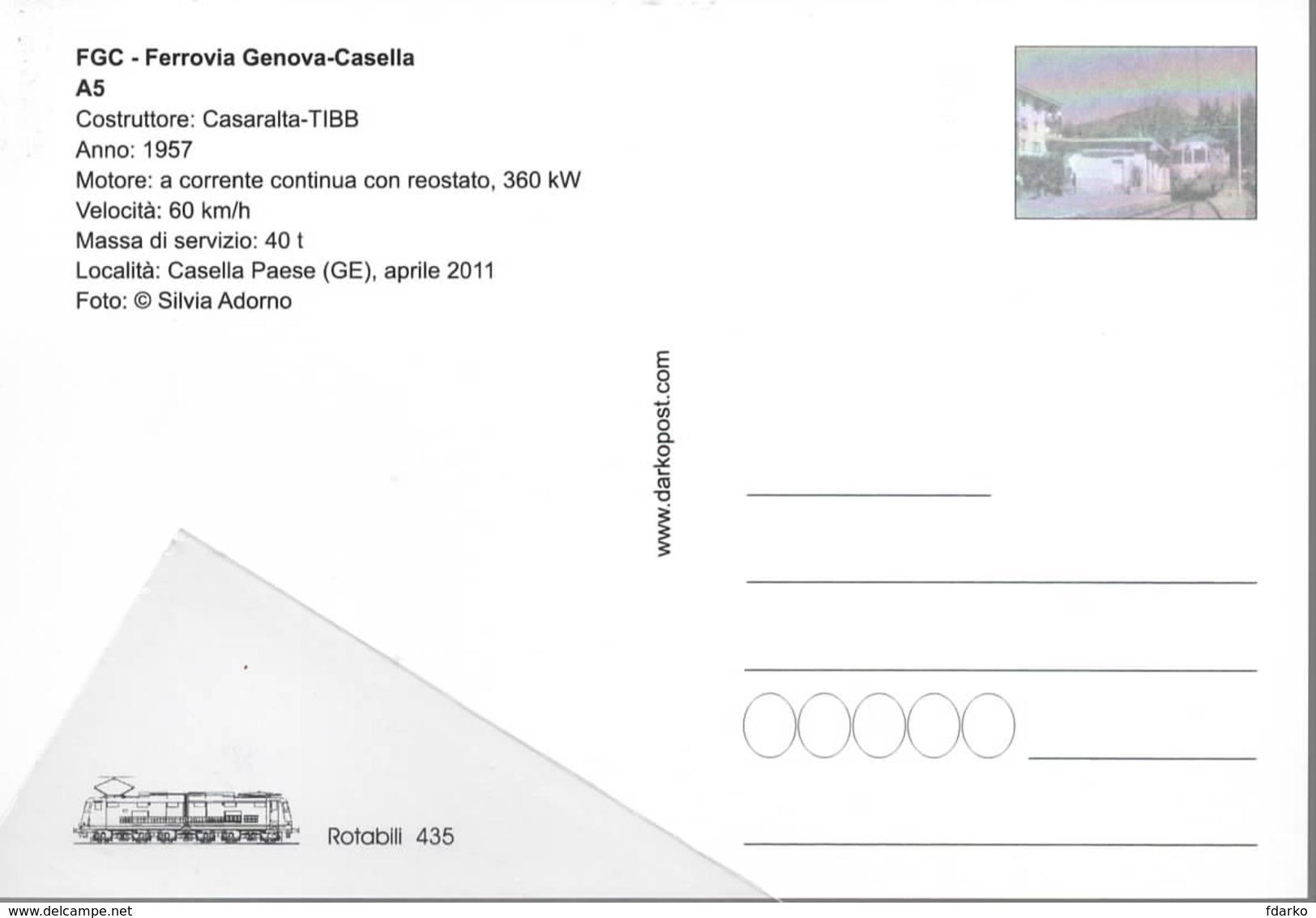 435 FGC A5 TIBB Località Caselle Paese Genova Railroad Tunel Trein Railways Treni - Stazioni Con Treni
