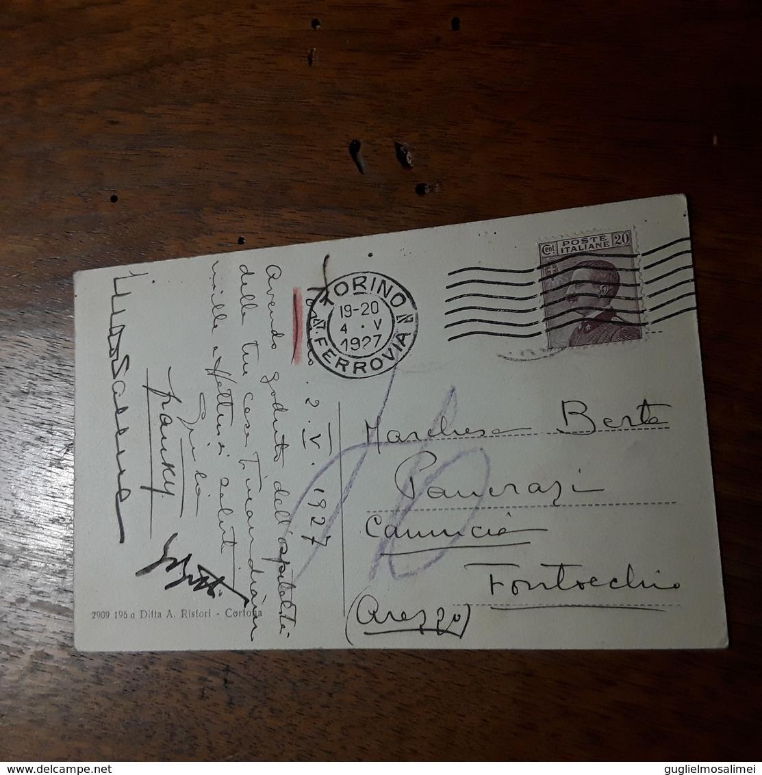 Cartolina Postale 1927, Cortona Chiesa Del Calcinaio - Arezzo