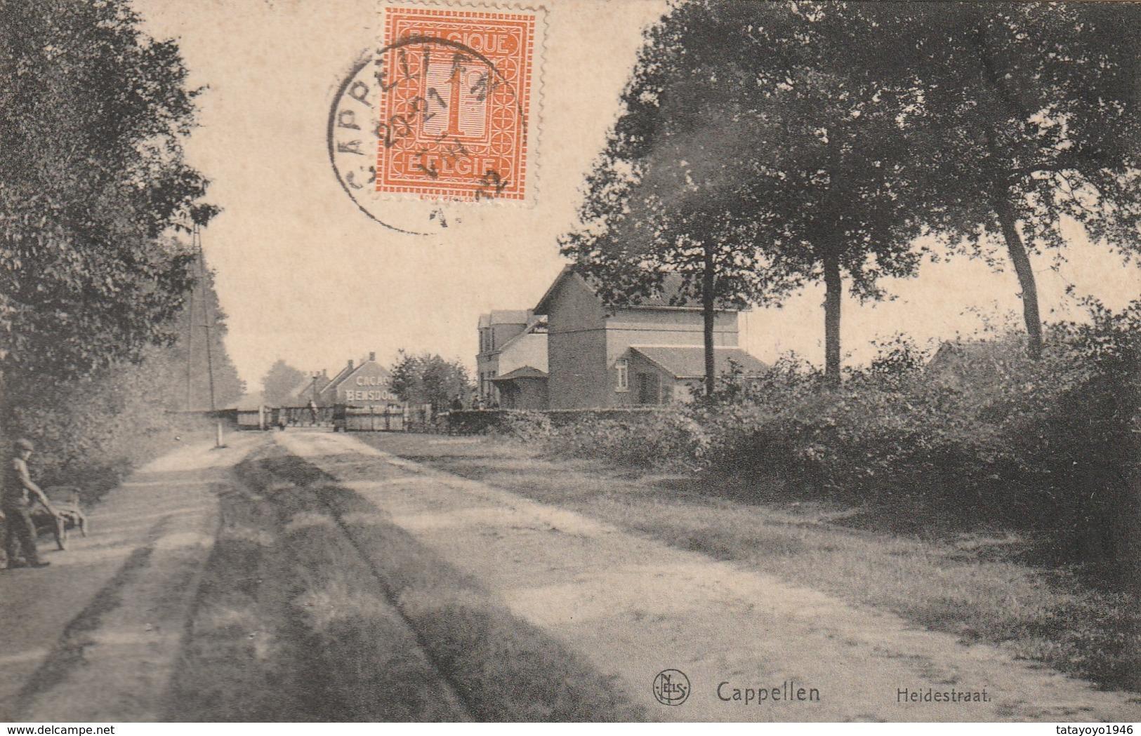 Cappellen Heidestraat Circulé En 1912 - Kapellen