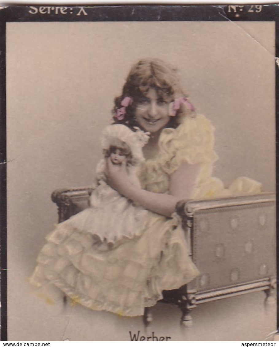 WERBER. COLORISE. CARD TARJETA COLECCIONABLE TABACO. CIRCA 1915 SIZE 4.5x5.5cm - BLEUP - Personalidades Famosas