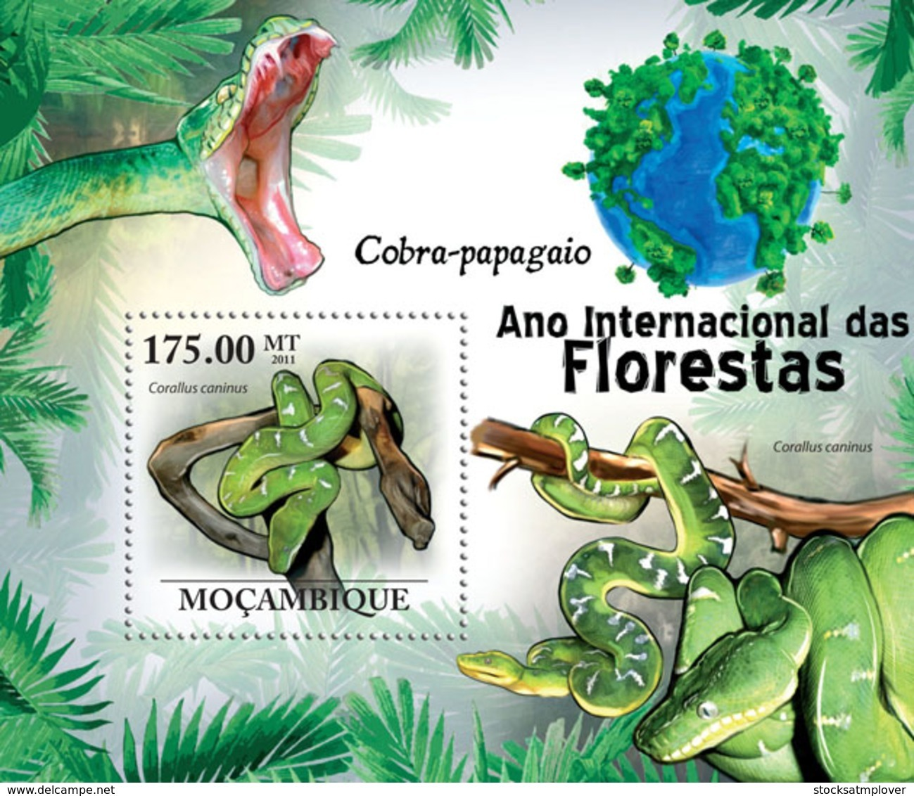 Mozambique 2011 Fauna  Parrot Snakes - Sao Tome And Principe