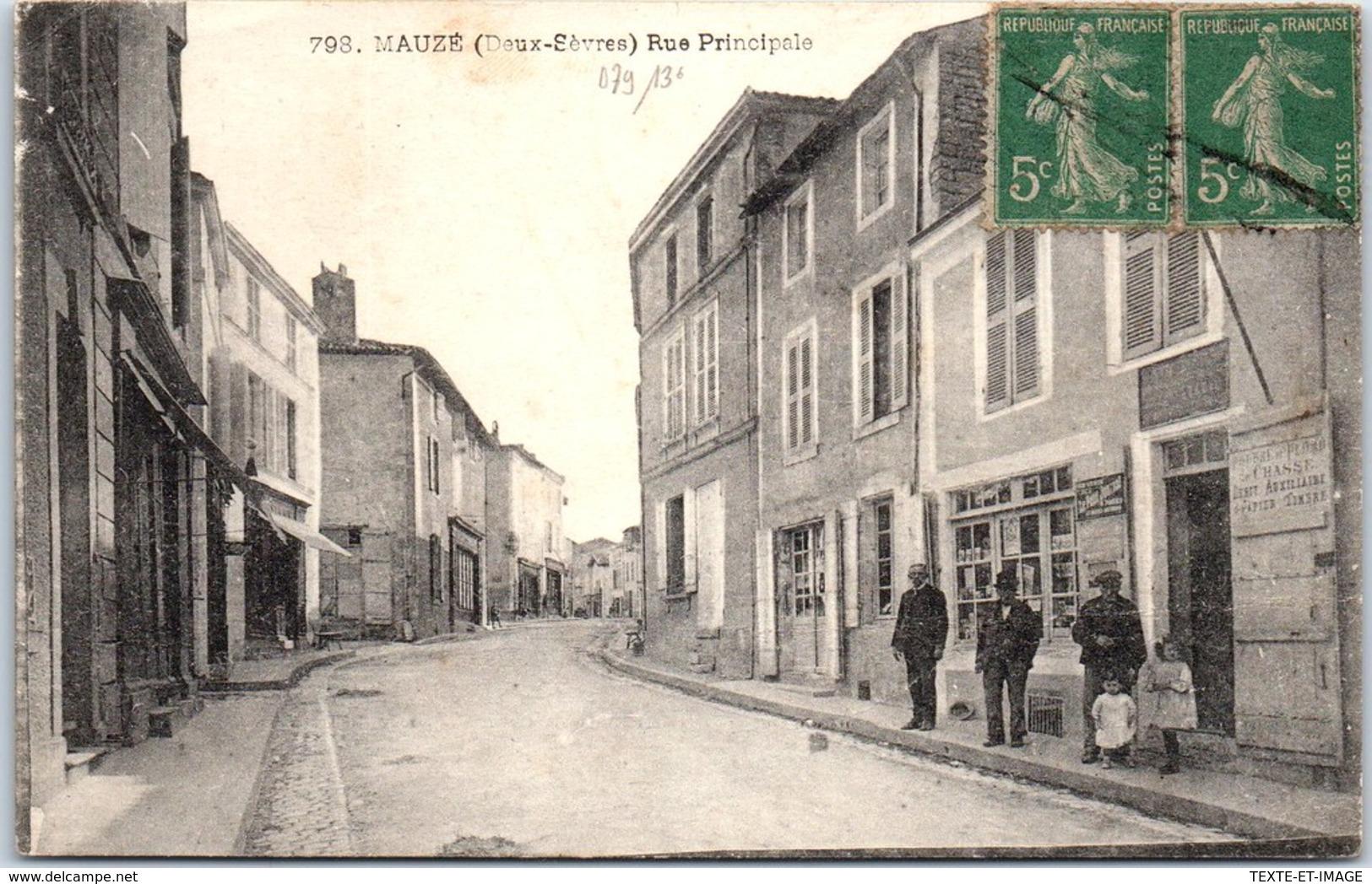 79 MAUZE - La Rue Principale - - Mauze Sur Le Mignon