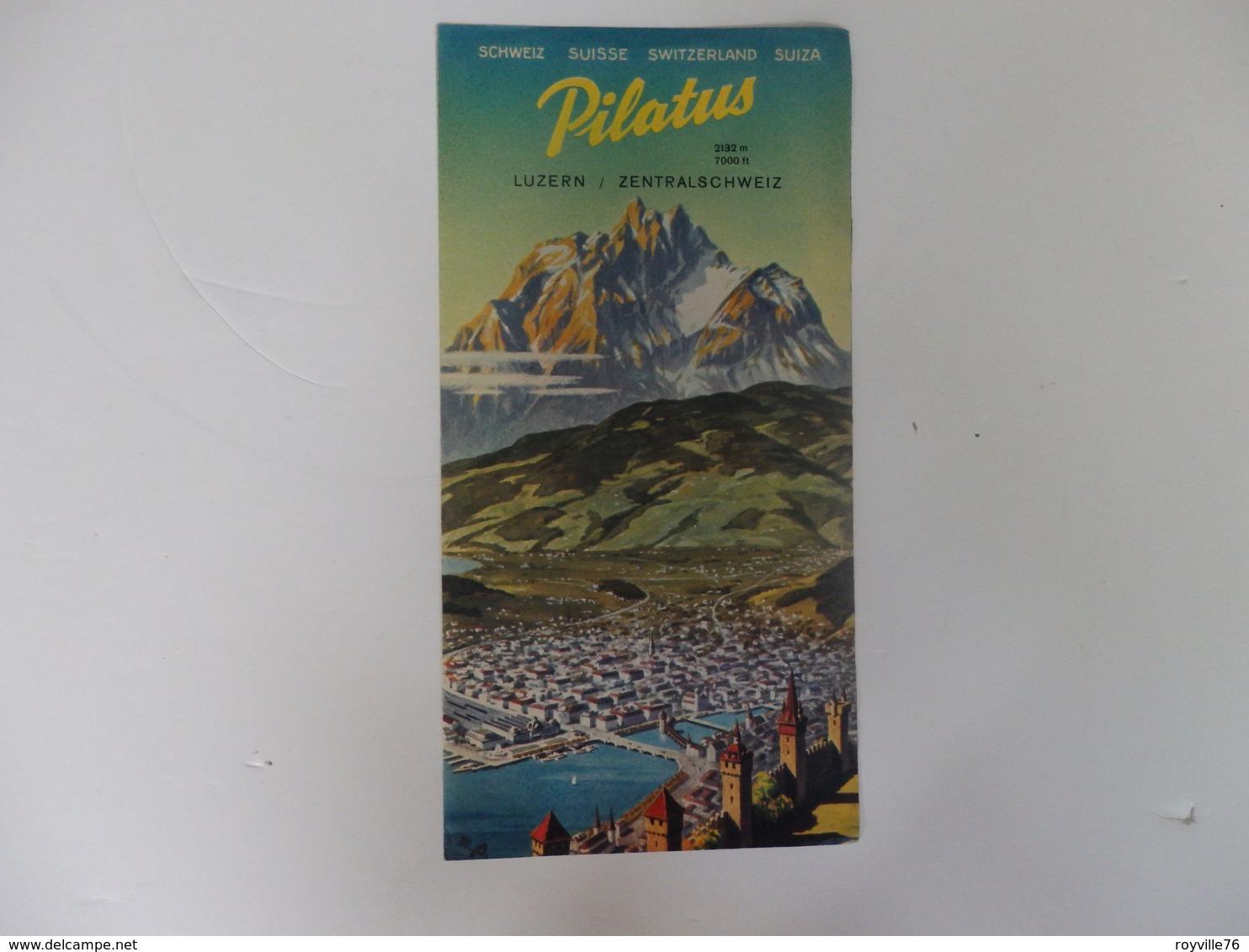 Dépliant Touristique Mt Pilate Lucerne Suisse Centrale. - Dépliants Touristiques