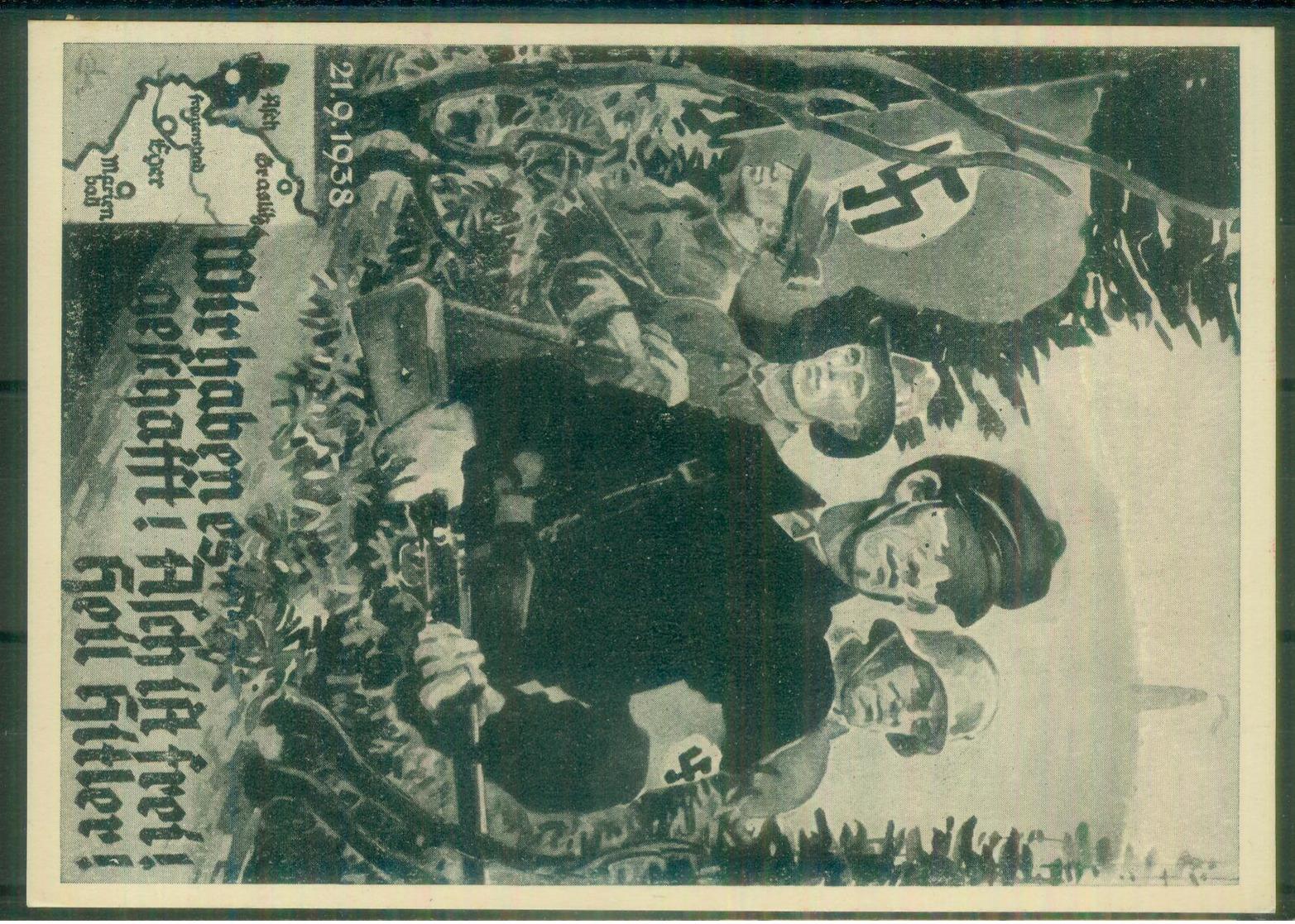 DR Sudetenland - Propagandakarte Asch - Sudetenland