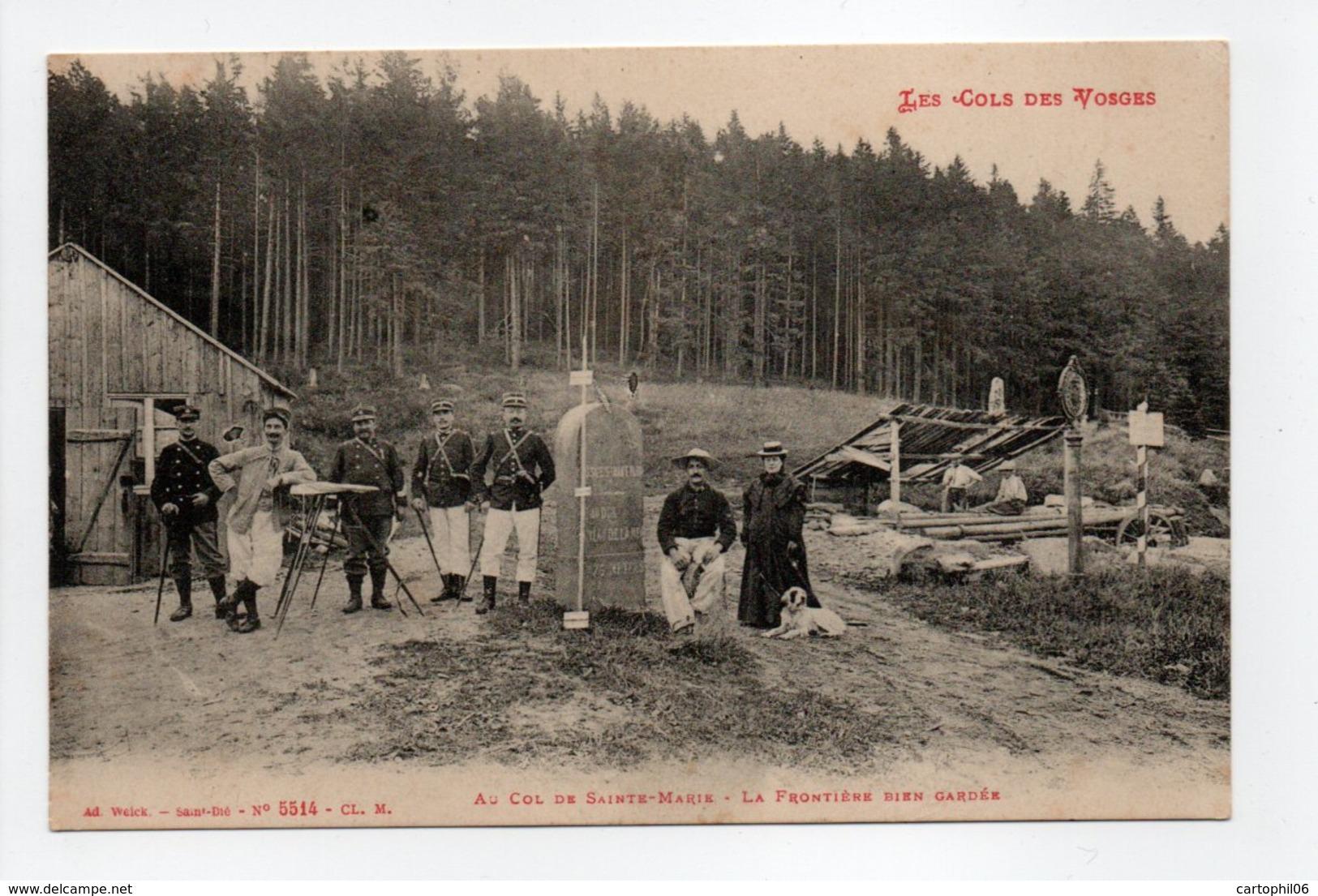 - CPA VOSGES (88) - Au Col De Sainte-Marie 1913 - La Frontière Bien Gardée (belle Animation) - Edition Weick 5514 - - France