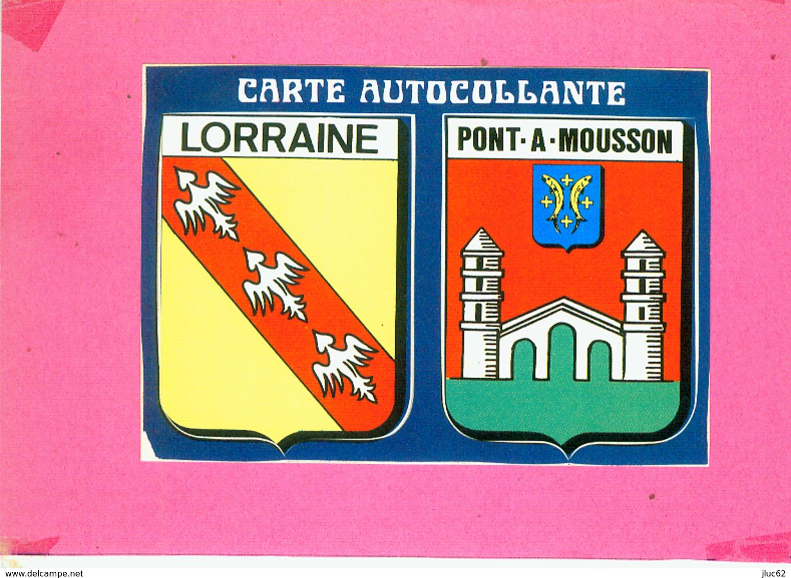CP.  54.  ECUSSONS  BLASONS  AUTOCOLLANT.  LORRAINE  PONT  A  MOUSSON - Pont A Mousson