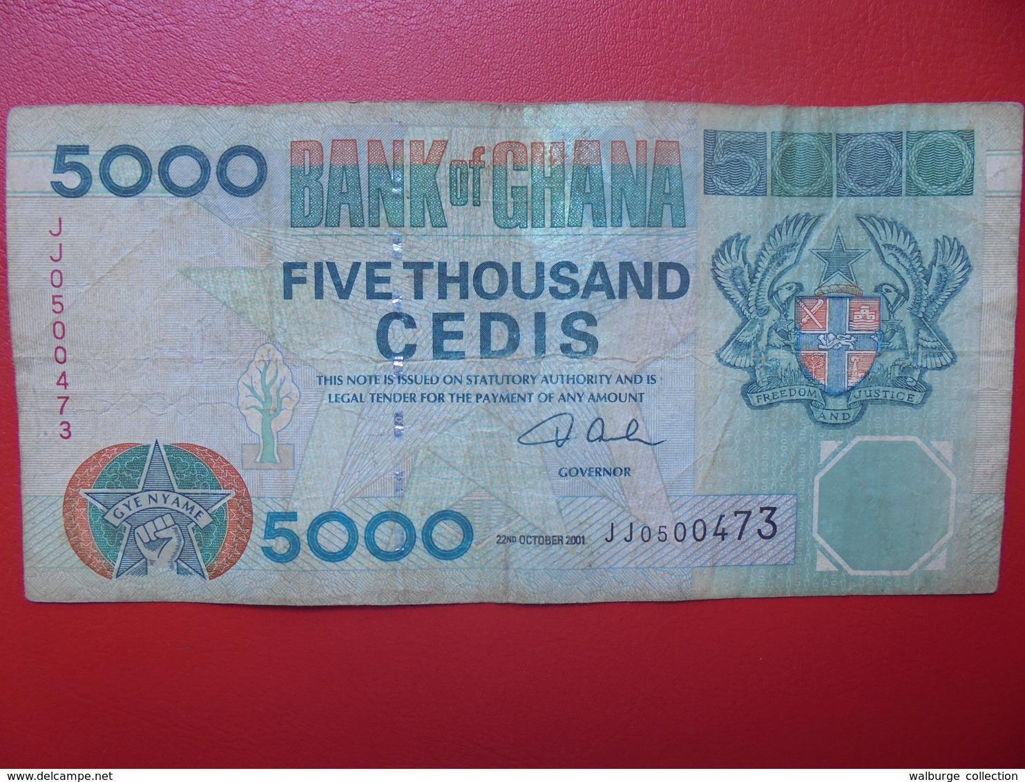 GHANA 5000 CEDIS 2001 CIRCULER (B.4) - Ghana