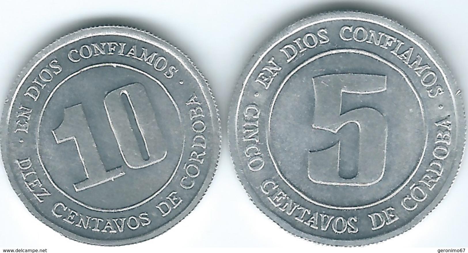 Nicaragua - 1974 - 5 & 10 Centavos (KMs 27 & 30) - Nicaragua