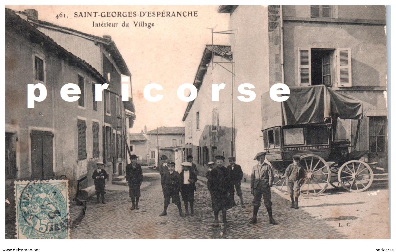 38  Saint Georges D' Espéranche  Intérieur Du Village Et Calèche De Transport à Diemoz - Autres Communes