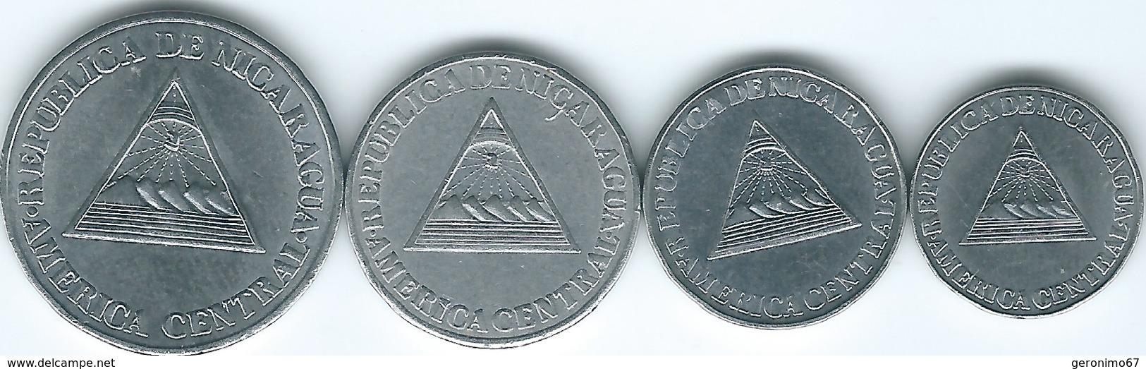 Nicaragua - 1994 - 5, 10, 25 & 50 Centavos (KMs 80-83) - Nicaragua