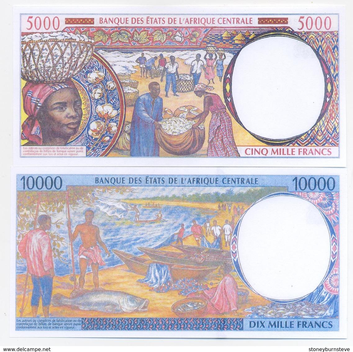 Chad 5 Note Set 1993 COPY - Ciad
