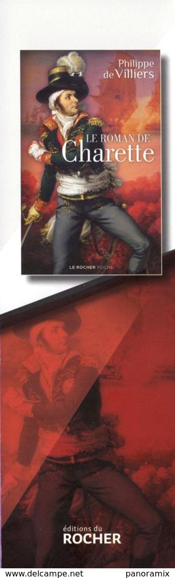 Marque-page °° Rocher - Le Roman De Charette - P. De Villiers - 6x18 - Marque-Pages