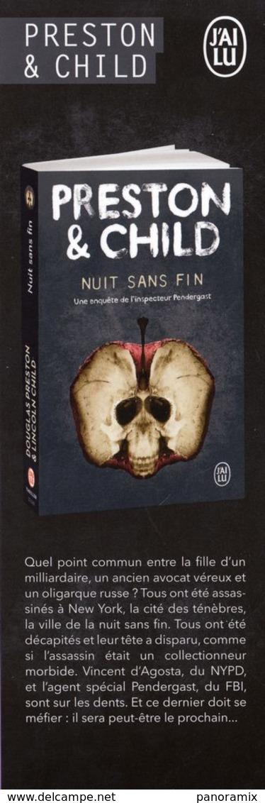 Marque-page °° Archipel - Offrande Funèbre Et Nuit Sans Fin - Preston & Child - 6x18 - Marque-Pages