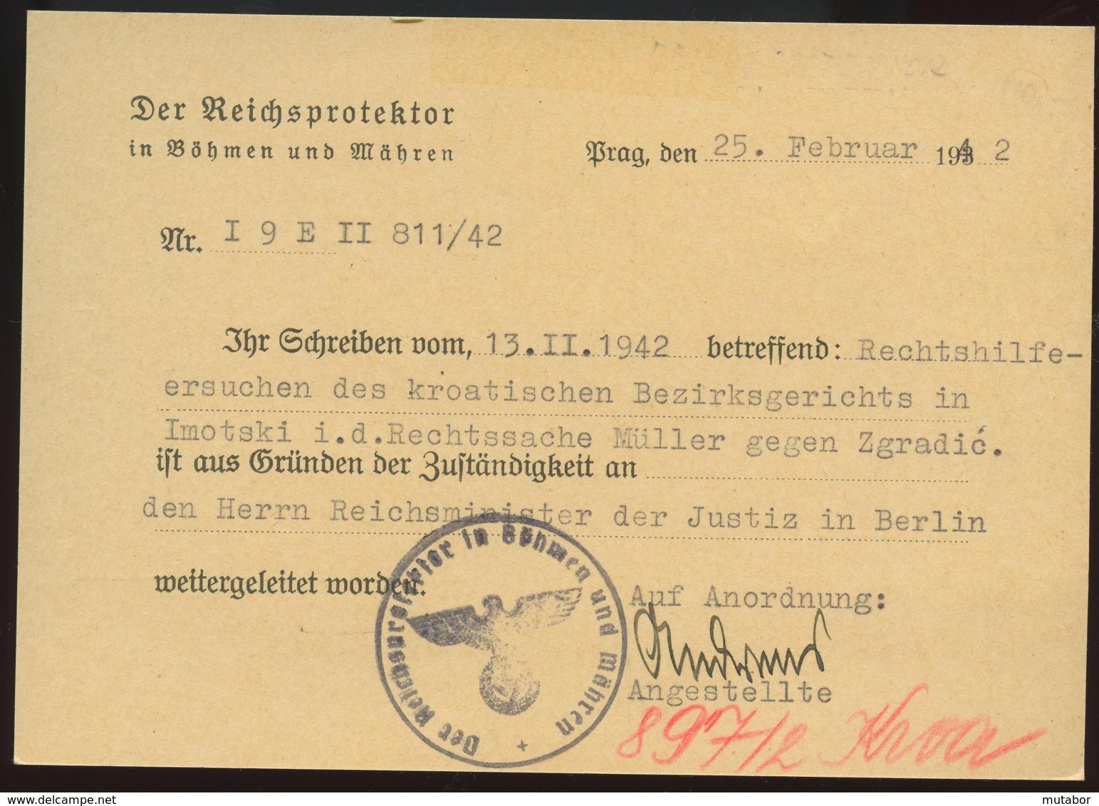 1942 Prag,Der Reichsprotektor In Böhmen Und Mähren - Officials