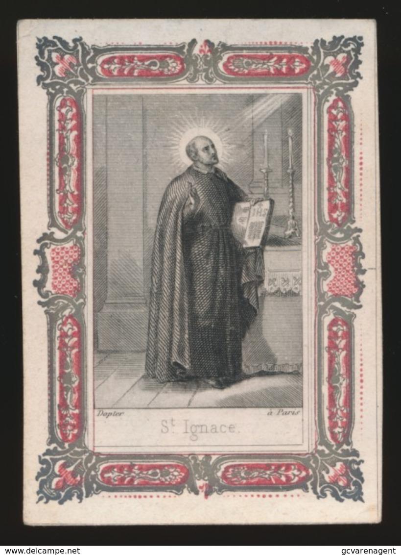 H.PRENTJE IMAGE PIEUSE  7.5 X 5.5 CM   ST.IGNACE - Imágenes Religiosas
