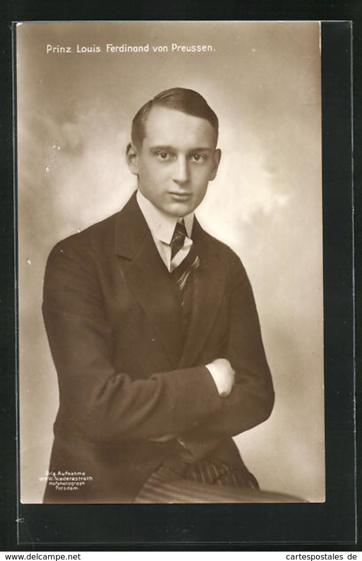 AK Portrait Prinz Louis Ferdinand Von Preussen In Uniform - Familles Royales