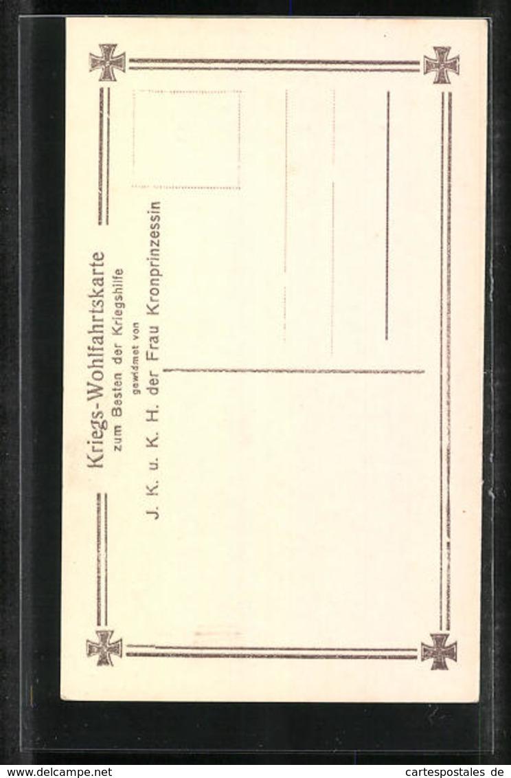 AK Portrait Prinz Louis Ferdinand Von Preussen In Feldgrau - Case Reali
