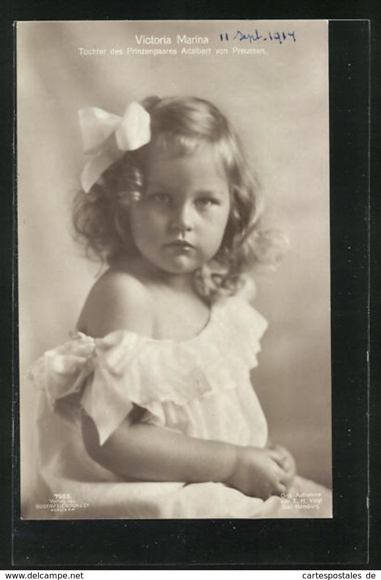 AK Victoria Marina, Tochter Des Prinzenpaares Adalbert Von Preussen - Familles Royales