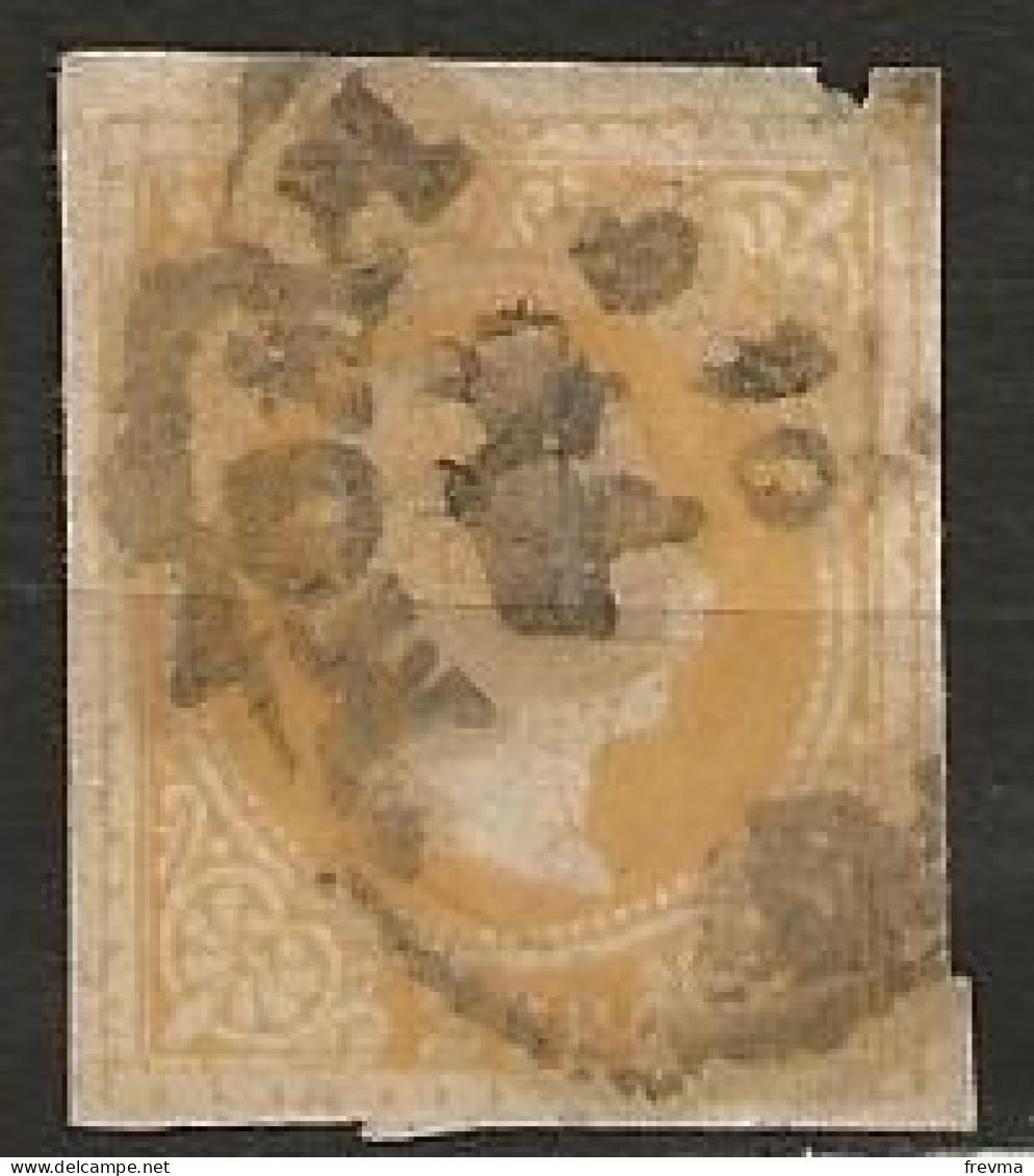 Grande Bretagne Non Dentelé A Identifié Obliteration Komm Ou Homm Ou Momm - Used Stamps