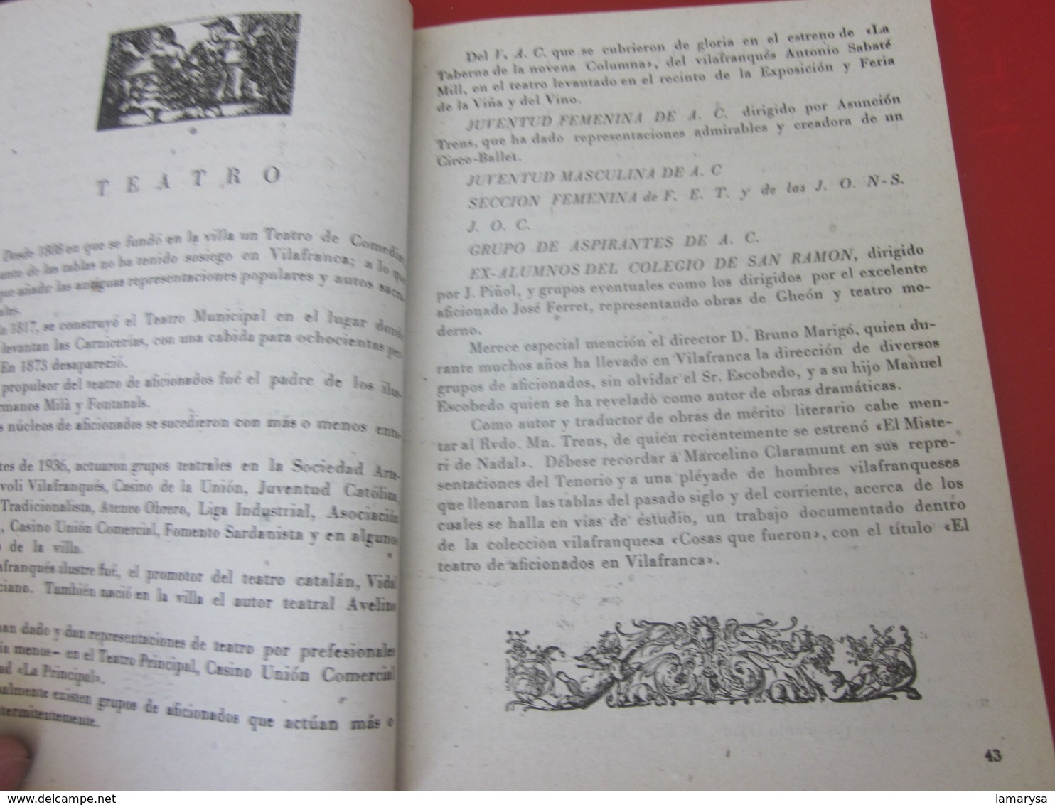 GUÍA TURÍSTICA DE VILAFRANCA DE 1949 LOS PANADES EN LA EDICIÓN DE GRÁFICOS DE ARTES DE LA MANO-PUBLICACIÓN DE PUBLICITÉ- - Folletos Turísticos