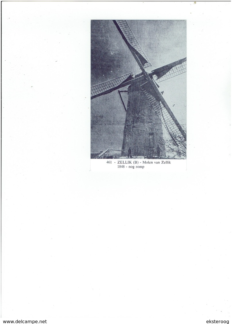 Zellik 461 - Molen Van Zellik - 1848- Nog Romp - Asse