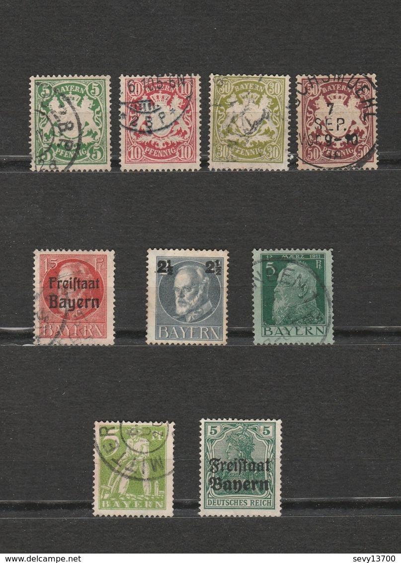 Lot 9 Timbres Bayern - 1911 Mi DE-BY 77 I - 1916Mi DE-BY 111A - 1919 Mi DE-BY 138 Et 156 - 1920 Mi DE-BY 178 - - Bayern