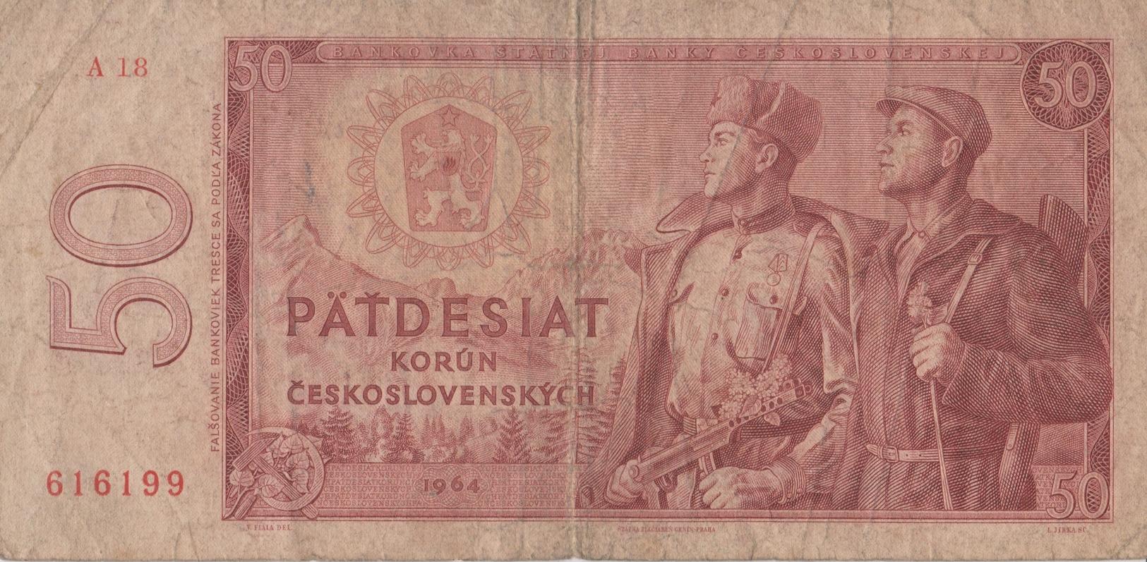 Tchécoslovaquie / 50 Korun / 1964 / P-90(b) / VF - Cecoslovacchia