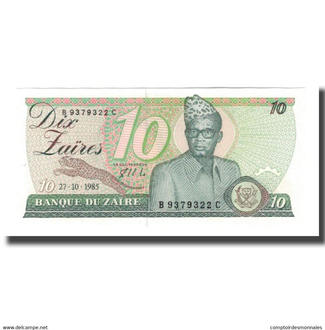 Billet, Zaïre, 10 Zaïres, 1985, 1985-10-27, KM:27A, NEUF - Zaïre