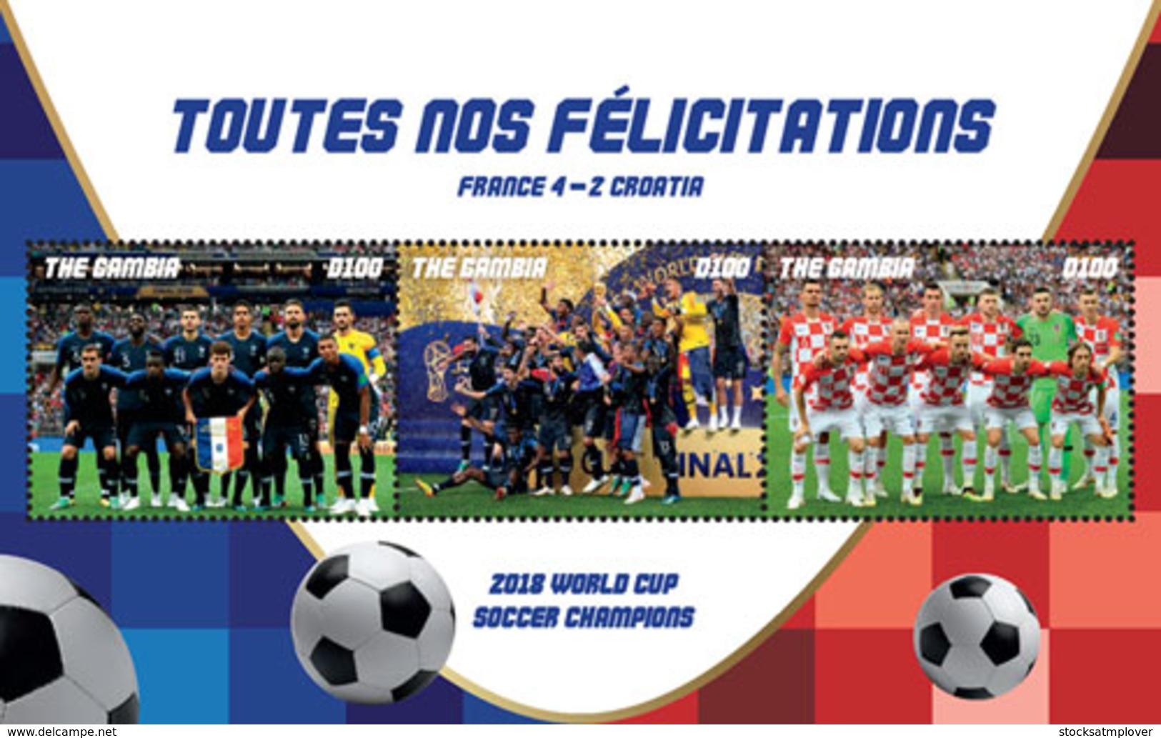 Gambia 2018  FIFA WORLD CUP 2018 CHAMPIONS: TEAM FRANCE  I201901 - Gambia (1965-...)