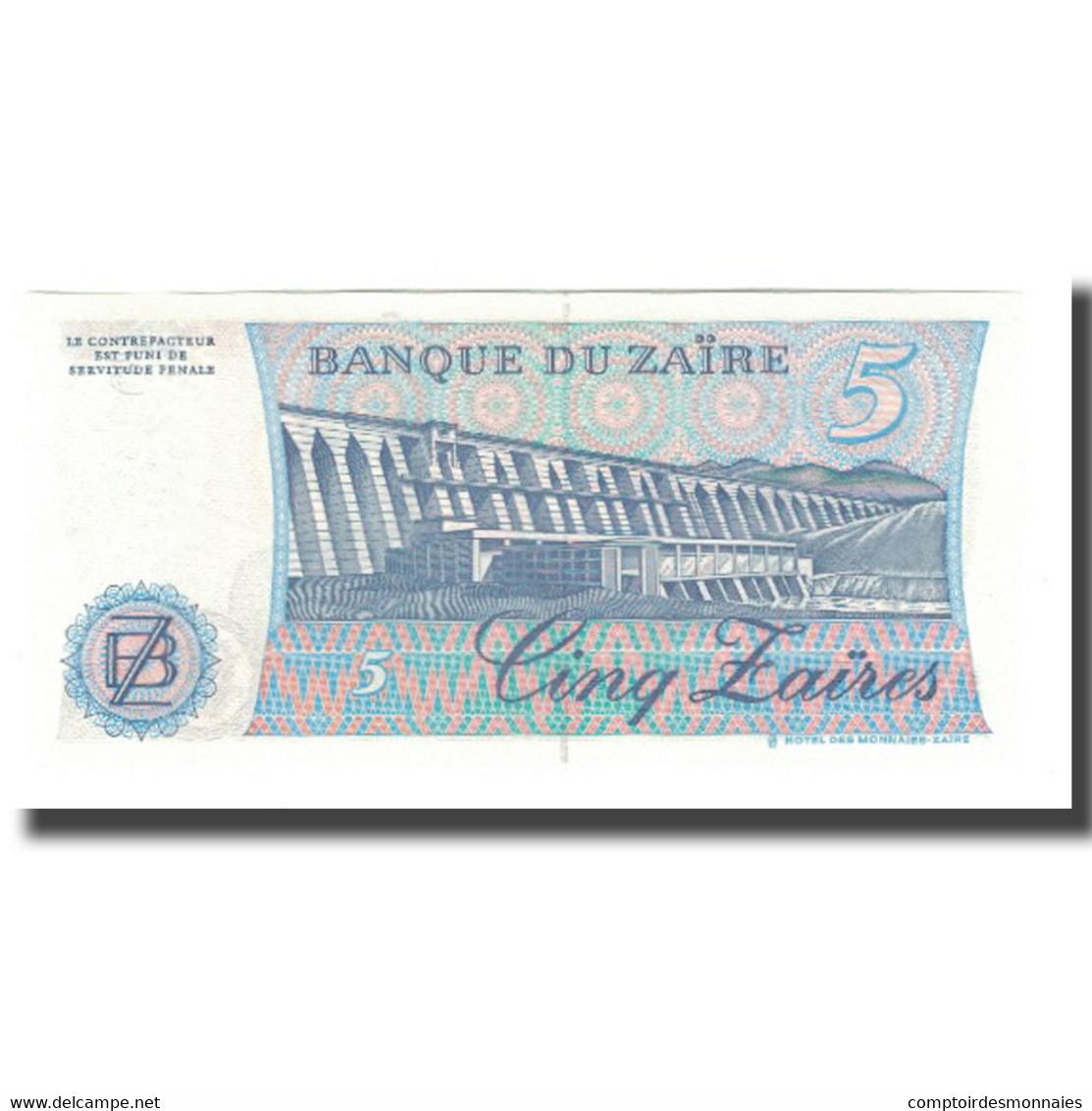 Billet, Zaïre, 5 Zaïres, 1985, 1985-11-24, KM:26a, NEUF - Zaïre