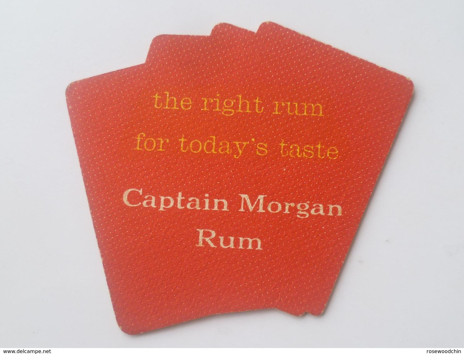 VINTAGE !! 1 Pc. Of  Singapore Captain Morgan Rum 4 Ace Card Beer Mat Coaster - Beer Mats