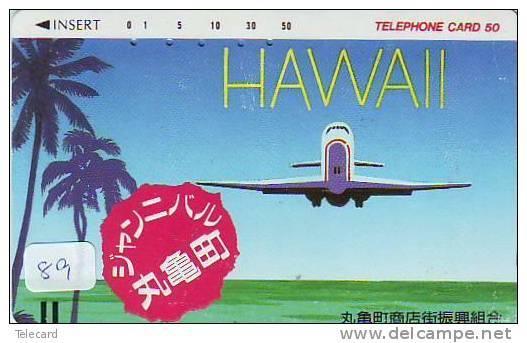 Télécarte HAWAII Reliée (89)  Phonecard HAWAII Related - Telefonkarte HAWAII Verbunden  Japan - - Paysages