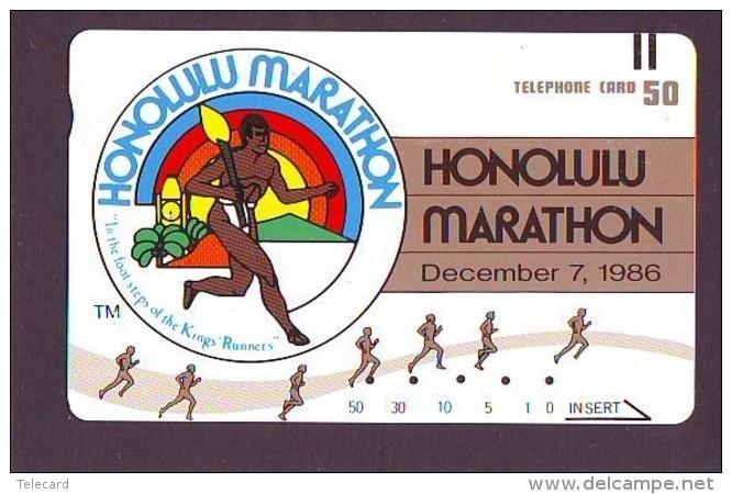 Télécarte HAWAII Sur JAPON - HAWAII Related (196)   Telefonkarte Phonecard Japan - - Paysages