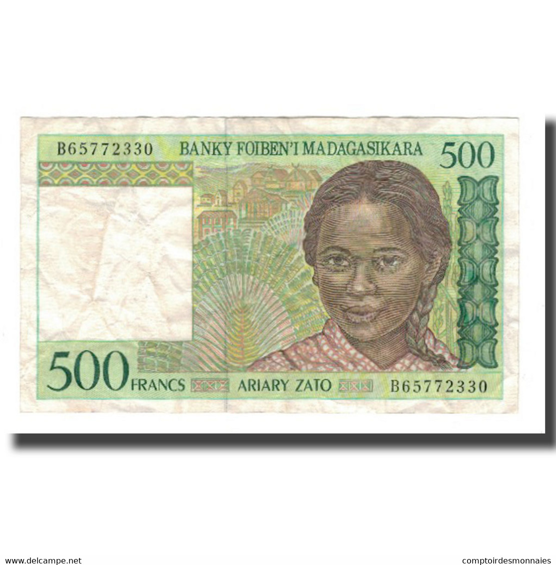 Billet, Madagascar, 500 Francs = 100 Ariary, Undated (1994), KM:75b, TTB - Madagascar