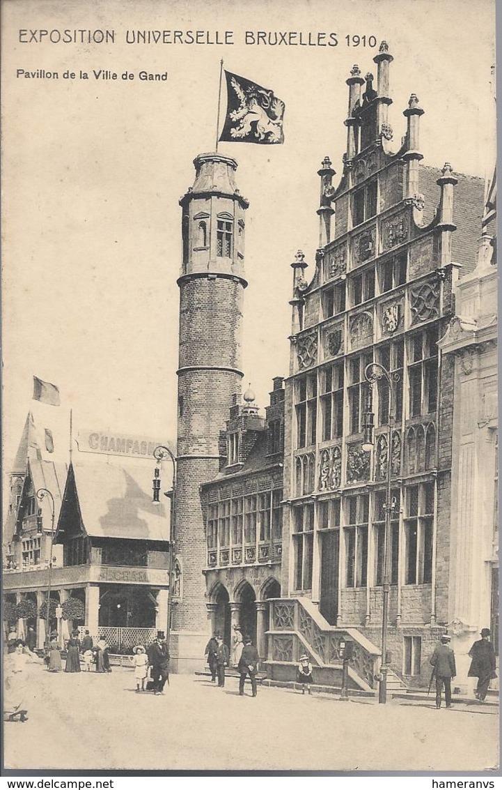 Exposition Universelle De Bruxelles 1910 - Pavillon De La Ville De Gand - HP1708 - Mostre Universali