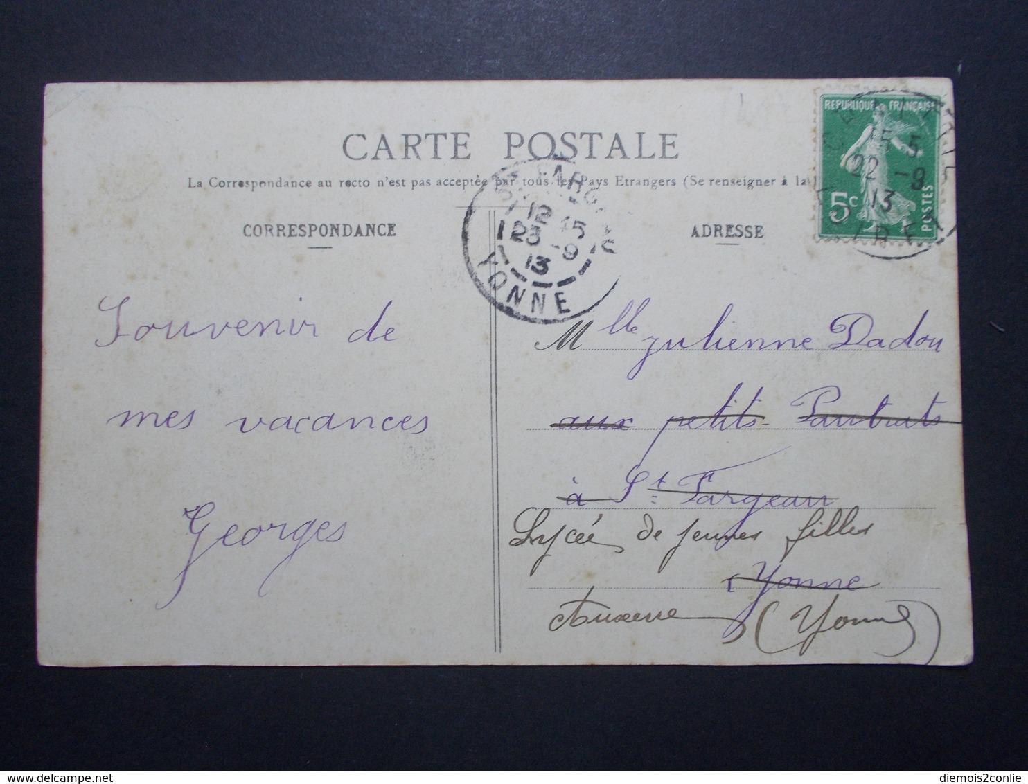 Carte Postale  - MONTARGIS (45) - Boulevard Du Pâtis - 1913 (1796/1000) - Montargis