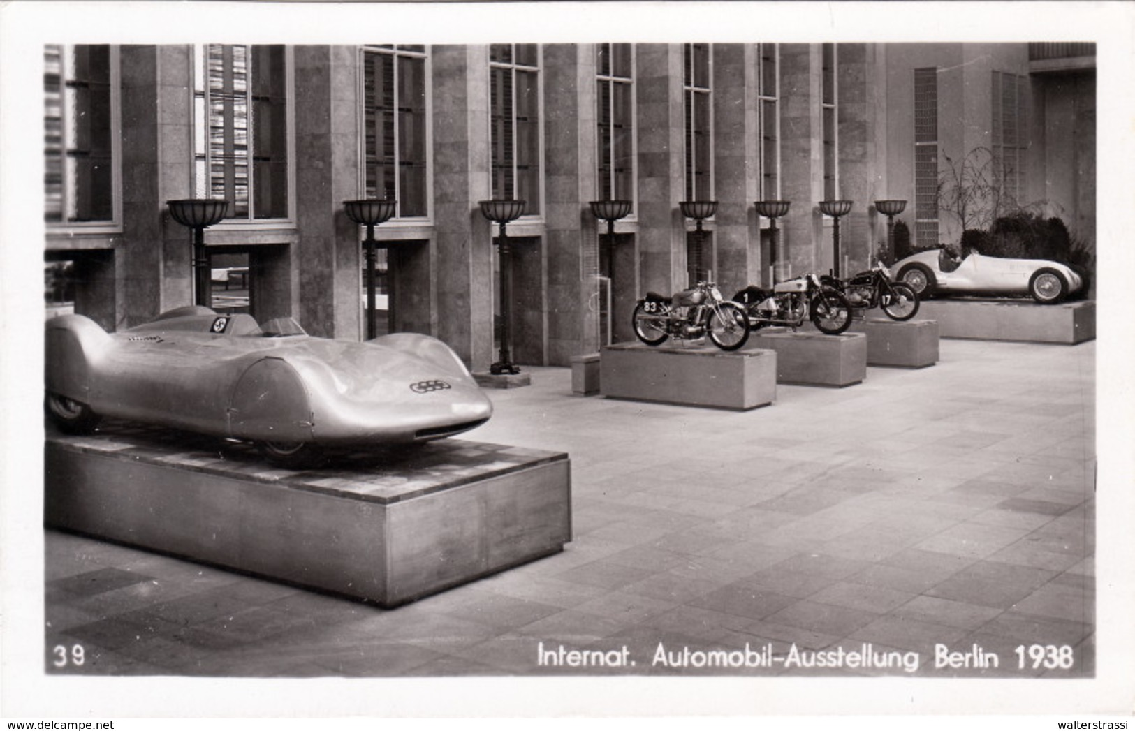 "Propaganda Karte , III.  Reich, "" Internationale Automobil - Aisstellung Berlin 1938 "" - Weltkrieg 1939-45"