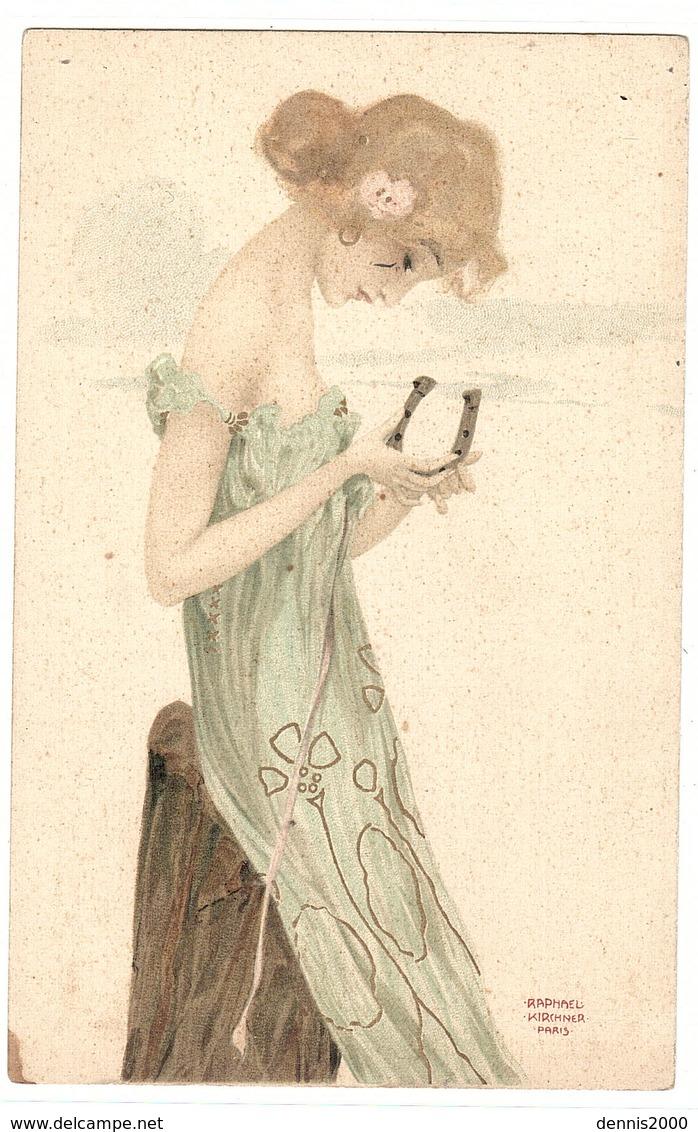 Illustrateur Raphael KIRCHNER - FEMME Tenant Un FER À CHEVAL - Kirchner, Raphael