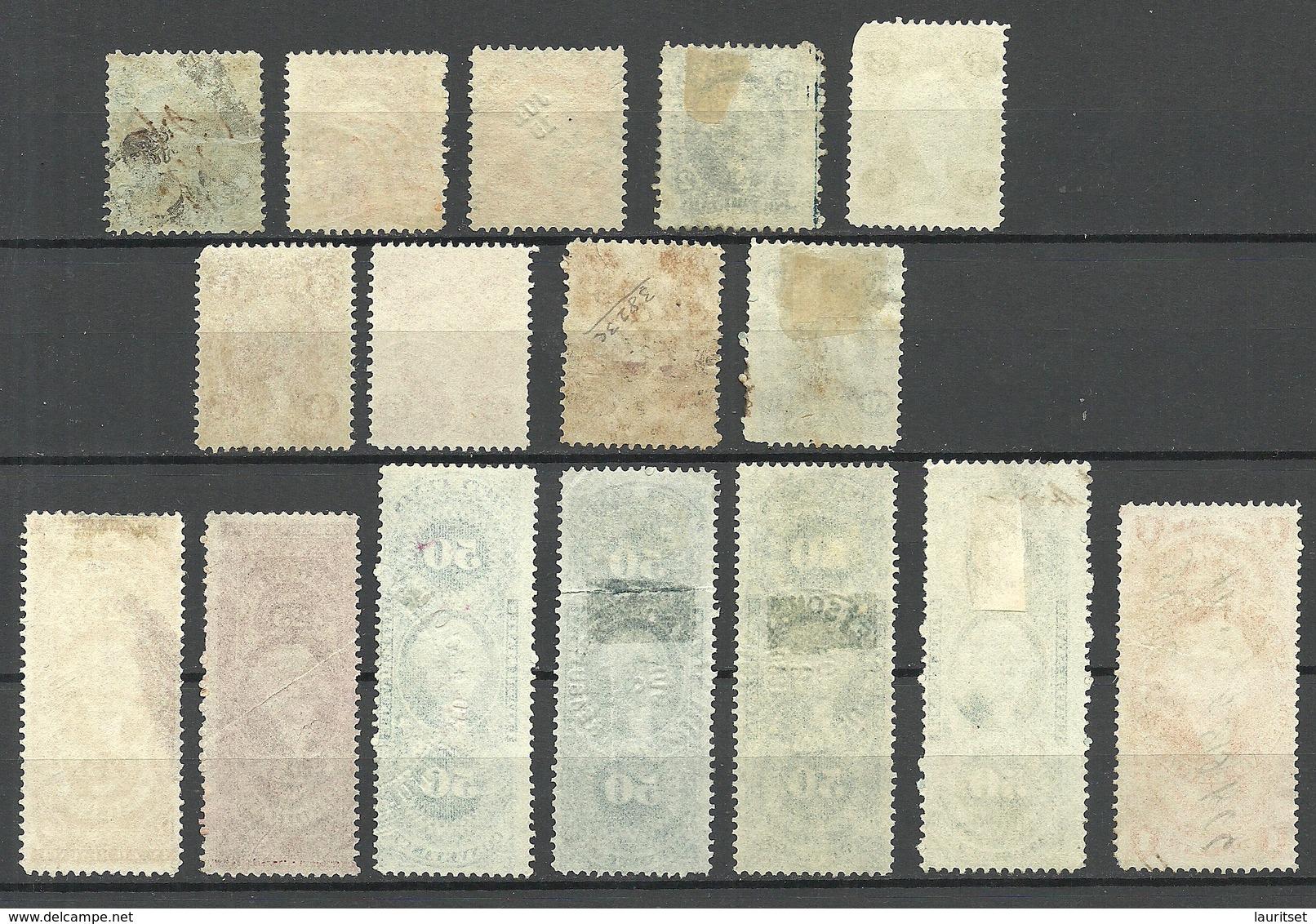 USA 1860ies Internal Revenue Tax Washington Incl Color Varieties Different Printings O - Revenues