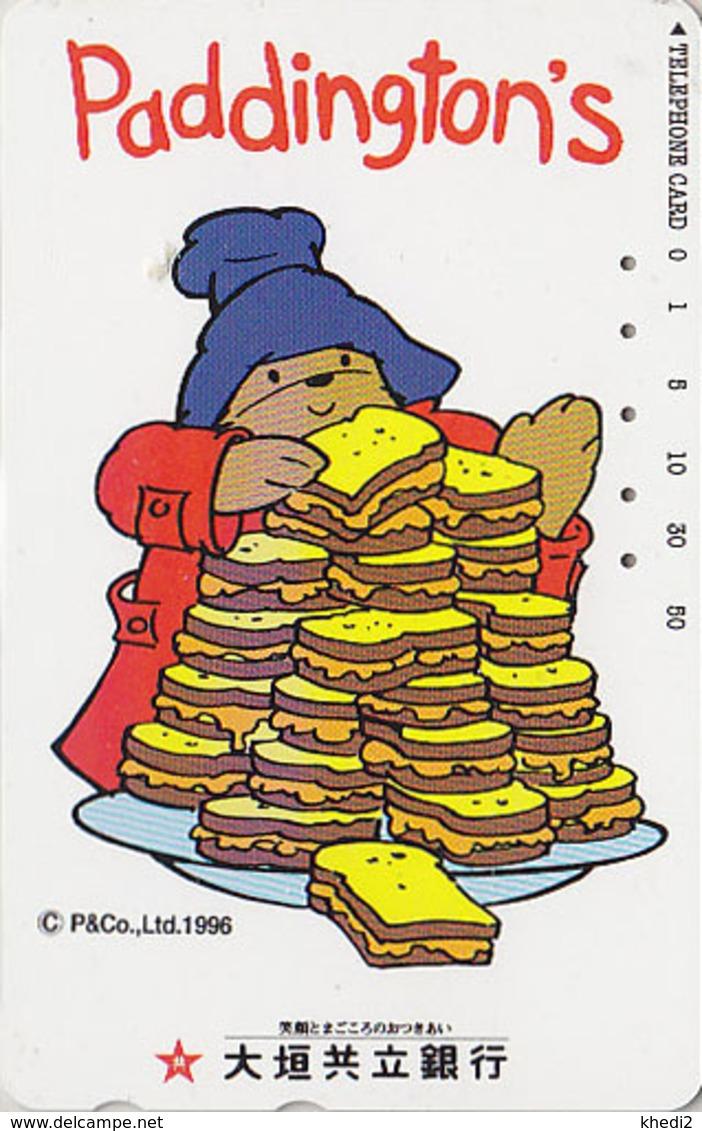 Télécarte Japon / 110-016 - BD Comics - OURS PADDINGTON / Toasts 2 - TEDDY BEAR Japan Phonecard - BÄR - Miel Honey - 773 - BD