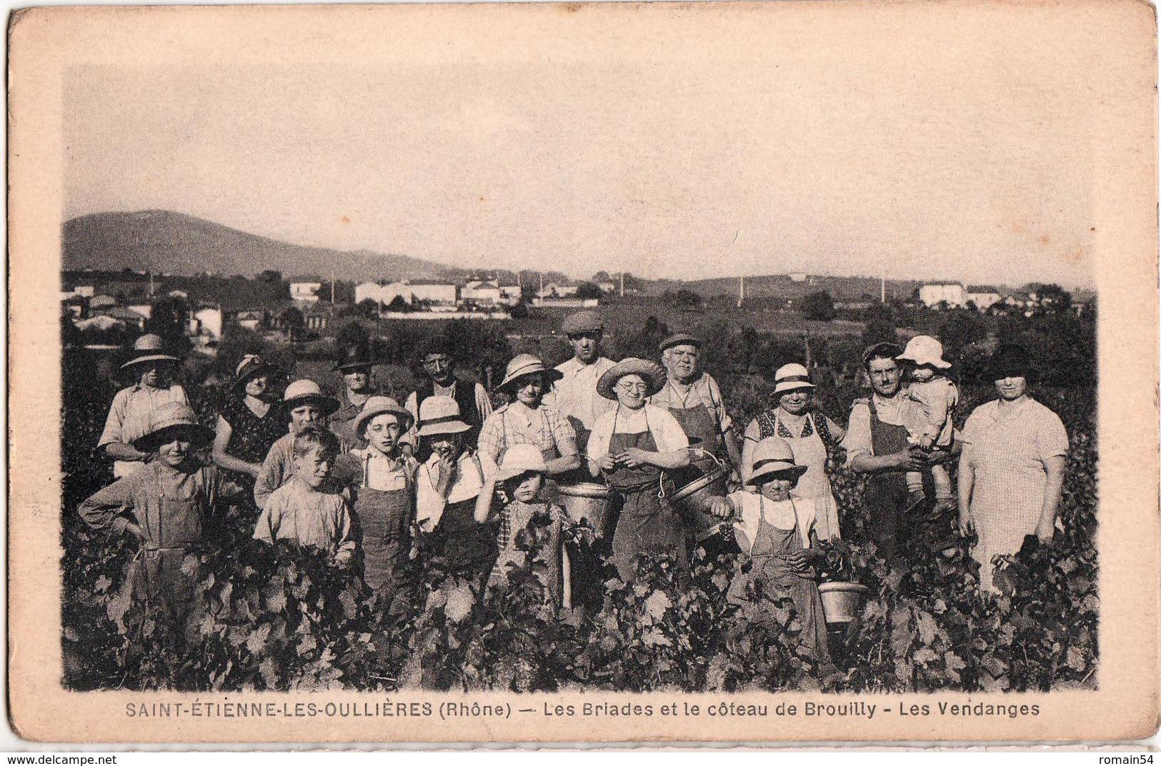 SAINT ETIENNE LES OULLIERES-LES BRIADES ET LE COTEAU DE BROUILLY-LES VENDANGES - Autres Communes