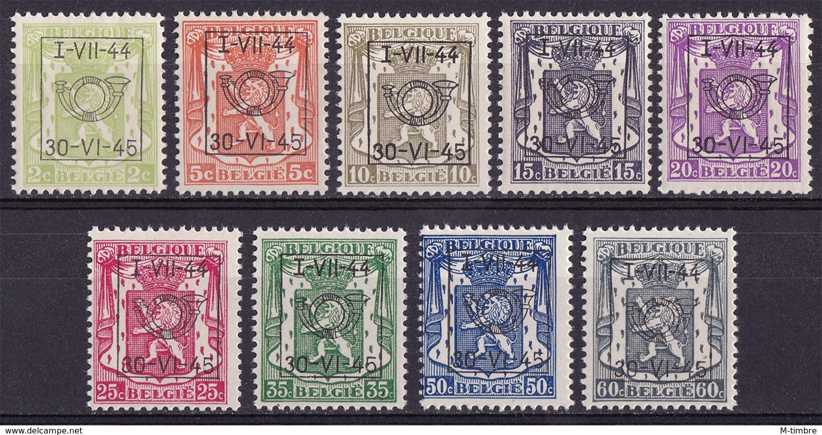 Belgique PRE520 PRE528 Année 1944 (MNH **) - Prematasellados