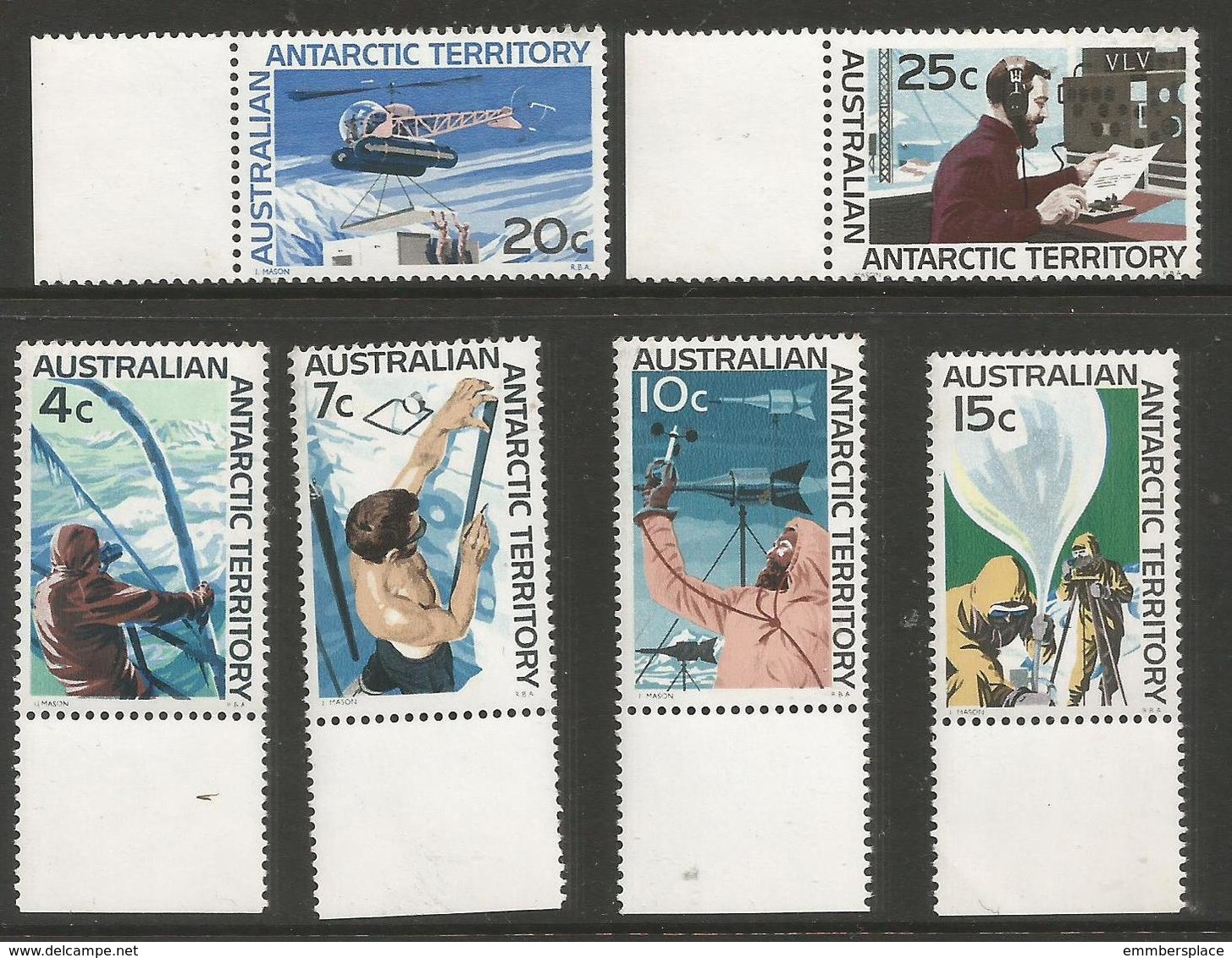 AAT - 1966 Research 6 Values MNH ** - Australian Antarctic Territory (AAT)