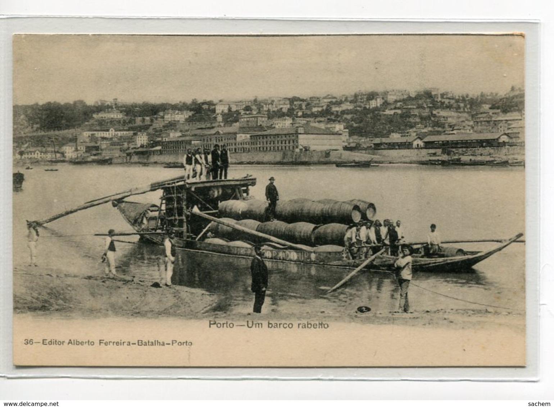 PORTUGAL PORTO Um Barco Rabetto Barque Transport Barriques De Vins No 36 Editor Alberto Ferreira Batalha    D11  2019 - Porto