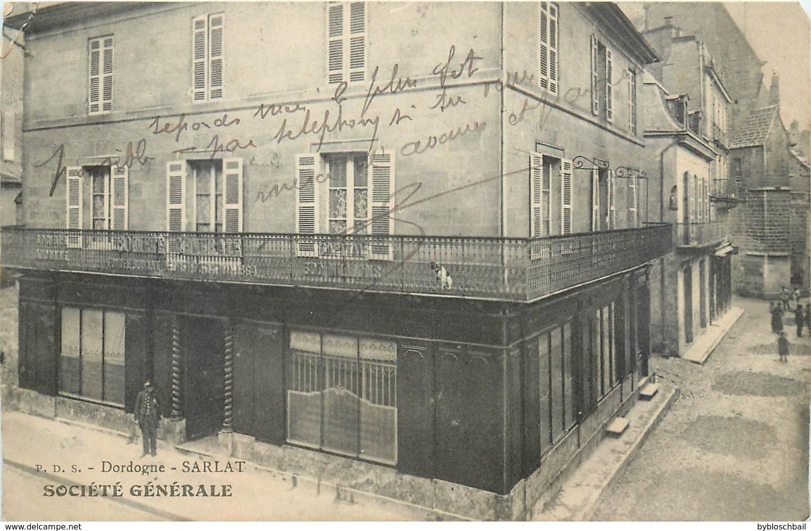 CPA 24 Dordogne Sarlat La Société Générale Banque - Sarlat La Caneda
