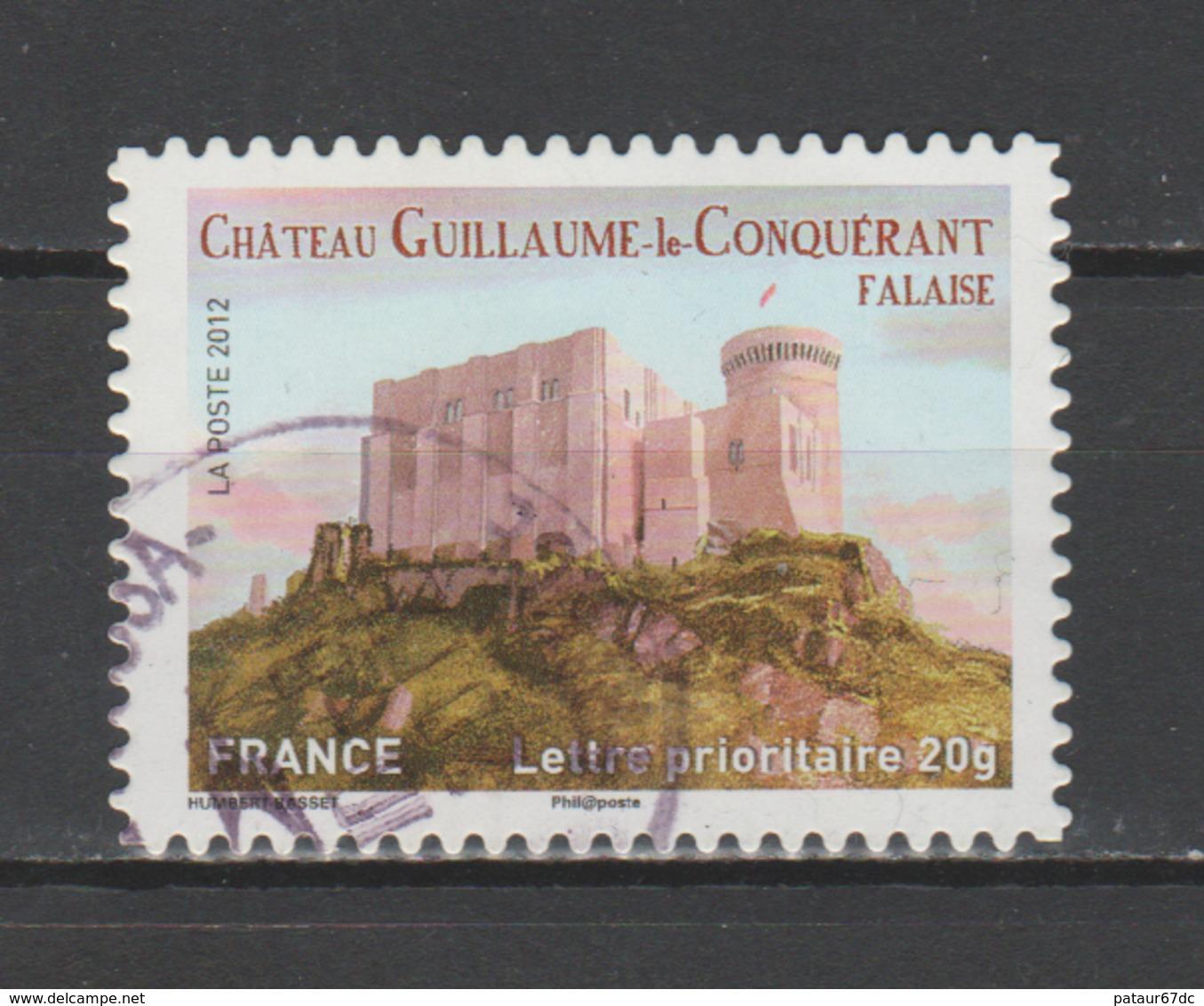 """FRANCE / 2012 / Y&T N° AA 714 : """"Demeures Historiques"""" (Château De Guillaume Le Conquérant) - Choisi - Cachet Rond - KlebeBriefmarken"""