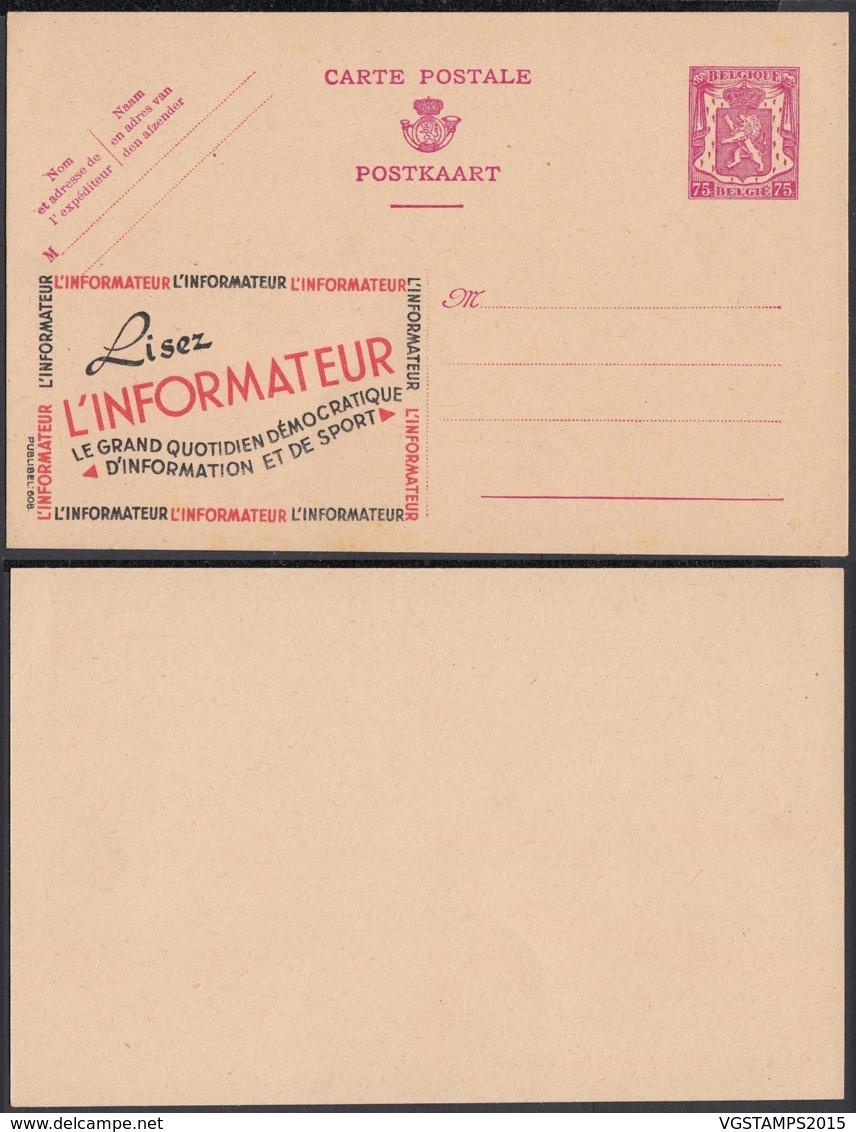 Publibel 608 - 75c  - Thématique Informatique (DD) DC3596 - Stamped Stationery