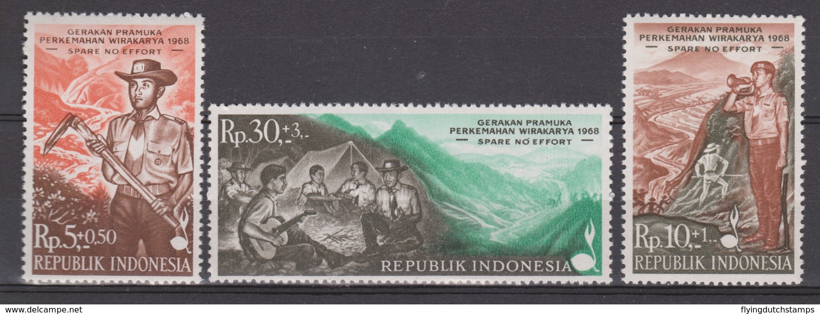 Indonesia Indonesie 610-612 MNH ; Padvinderij Scouting Scoutisme Scoutismo International Jamboree Manilla 1968 - Padvinderij