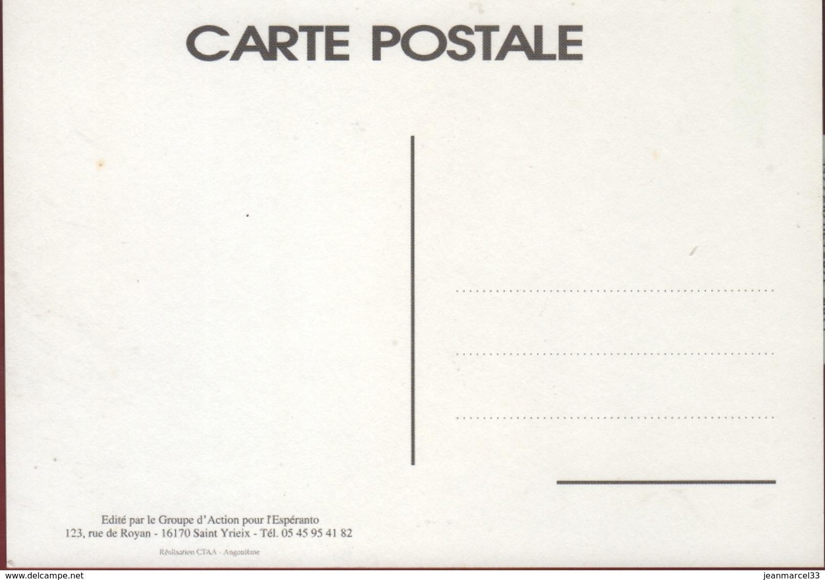 """Espéranto Carte Postale Neuve """"Esperanto La Langue Internationale"""" - Esperanto"""