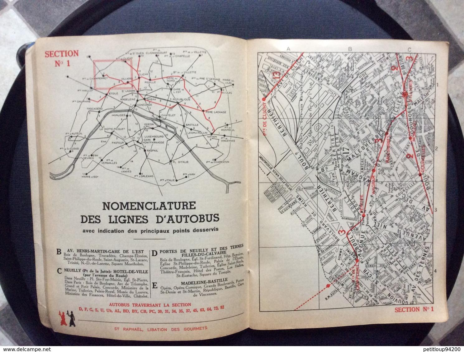 PARIS-PLAN Offert Par St RAPHAEL QUINQUINA Exposition Internationale Des Arts Et Des Techniques  ANNEE 1937 - Europe